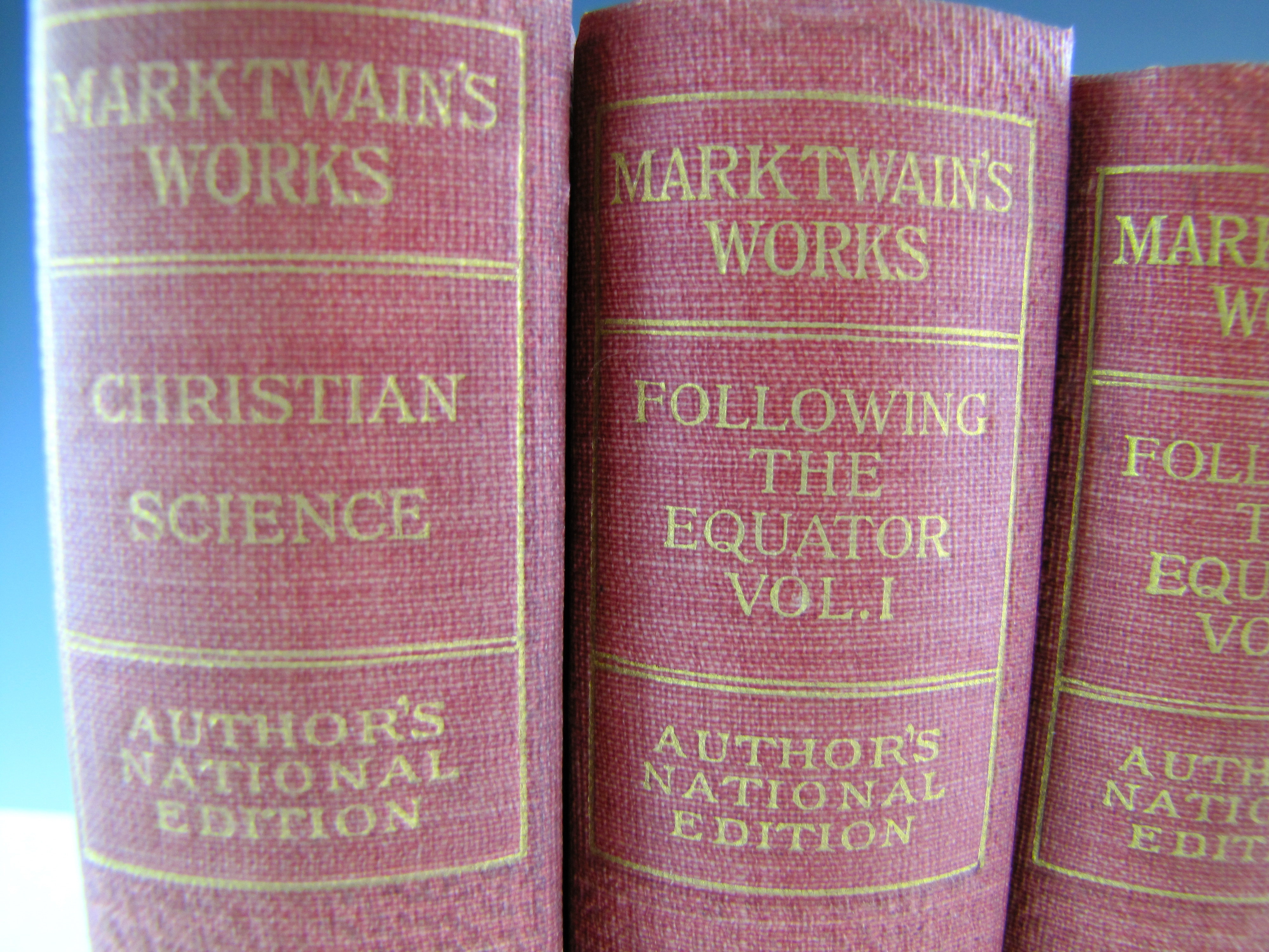MARK TWAIN'S WORKS ILLUSTRATED 10 VOLS TOM SAWYER HUCK FINN PRINCE and THE PAUPER+