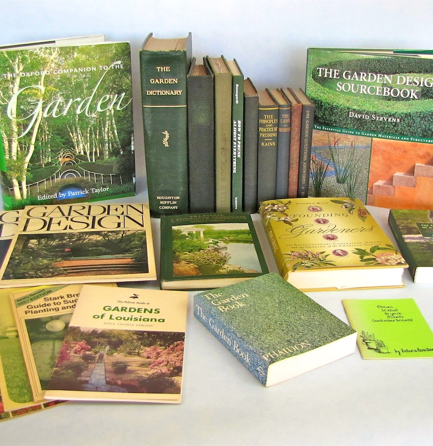 Collection of 20 landscape design and reference books and for Landscape design books