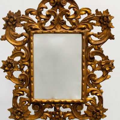Vintage mirrors auction antique wall and floor mirrors for Floor mirror italian baroque rococo style