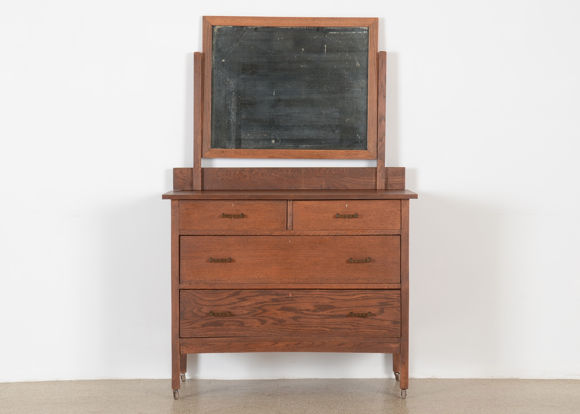 Arts and crafts dresser with mirror
