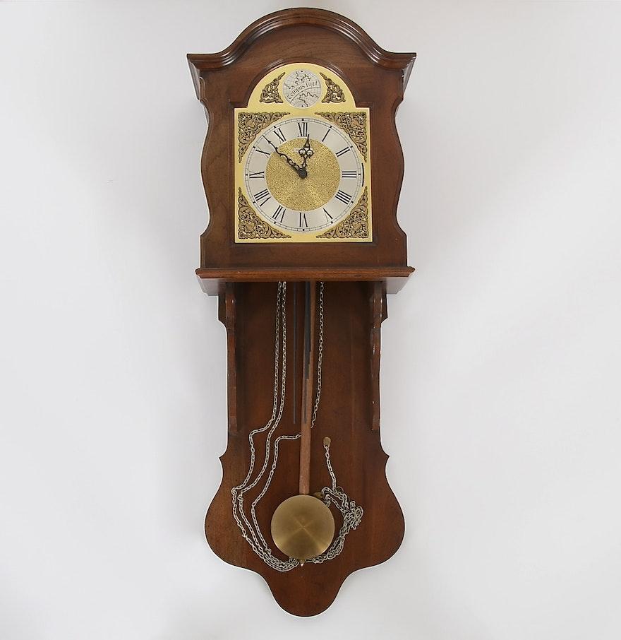 Howard Miller Quot Tempus Fugit Quot Walnut Wall Clock Ebth