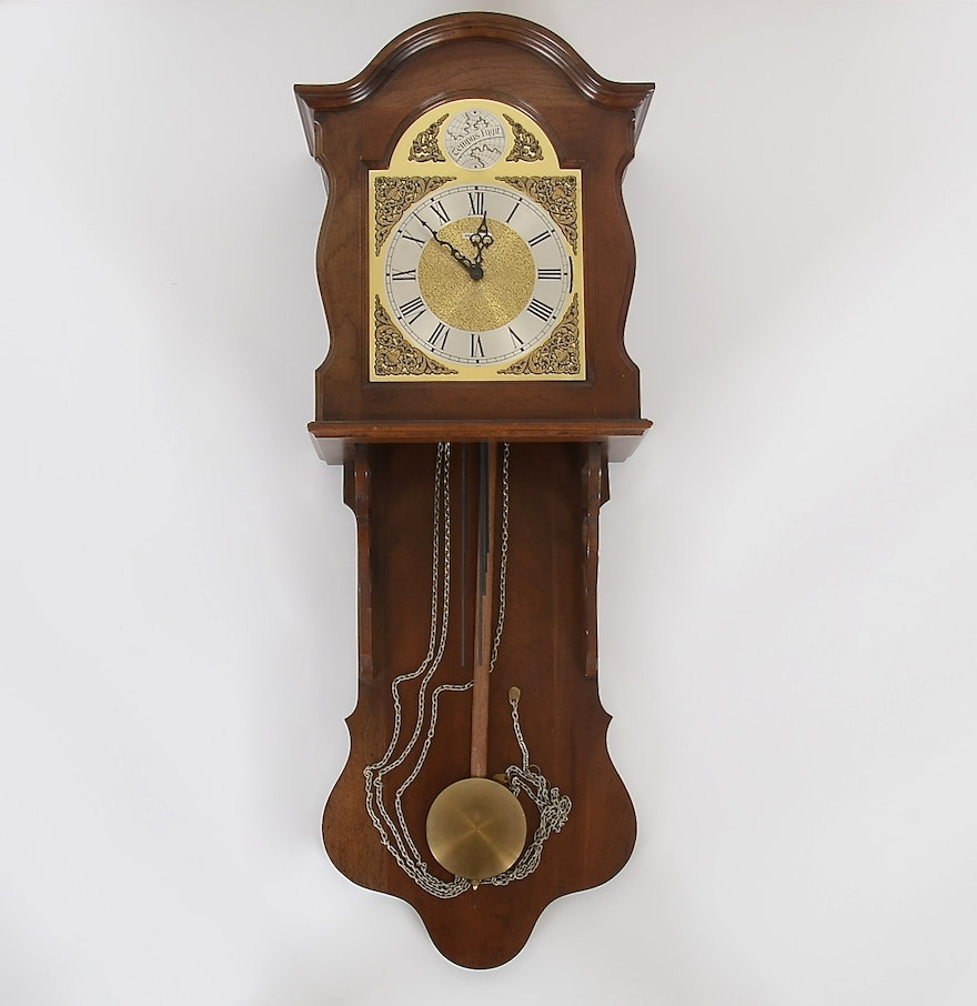 Howard miller tempus fugit walnut wall clock ebth howard miller tempus fugit walnut wall clock amipublicfo Image collections