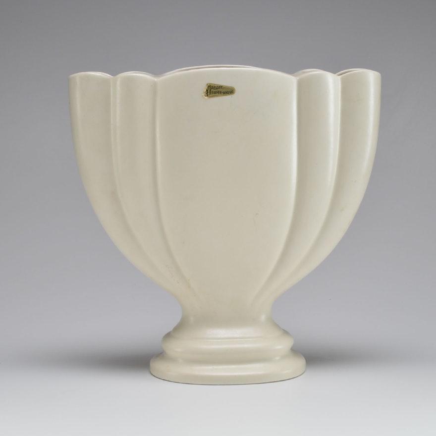 Royal Haeger White Gladiolus Vase Ebth