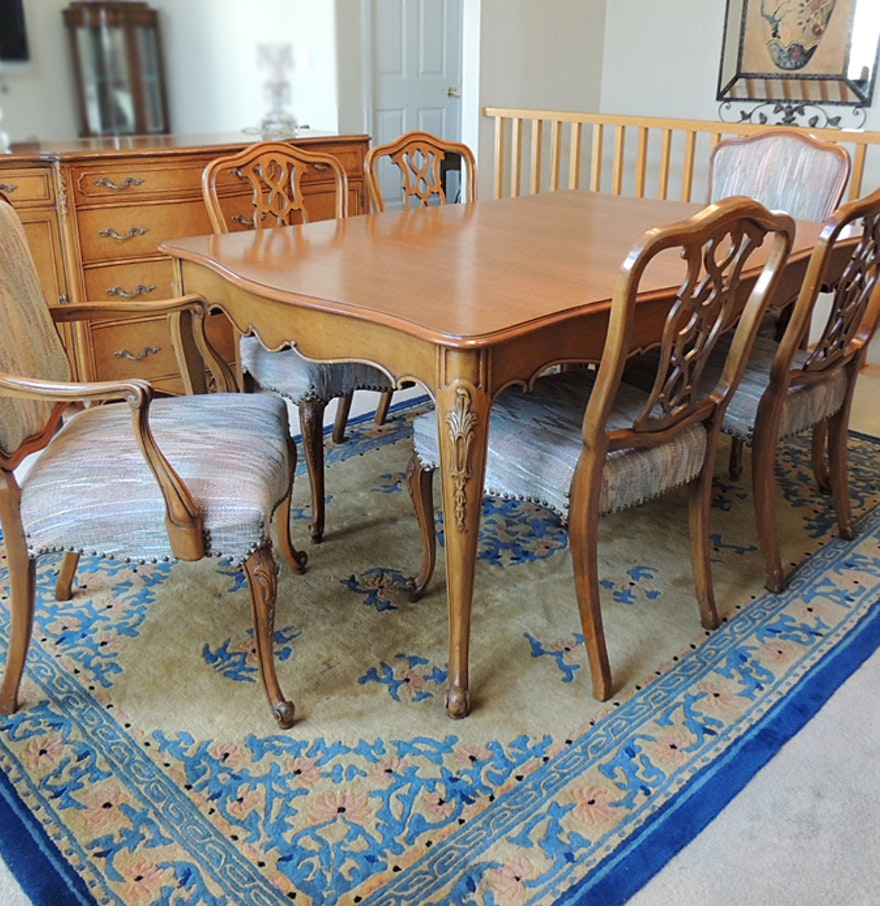French Provincial Dining Room Sets Lexington Vestiges Dining Table Amp Chairs Ebth