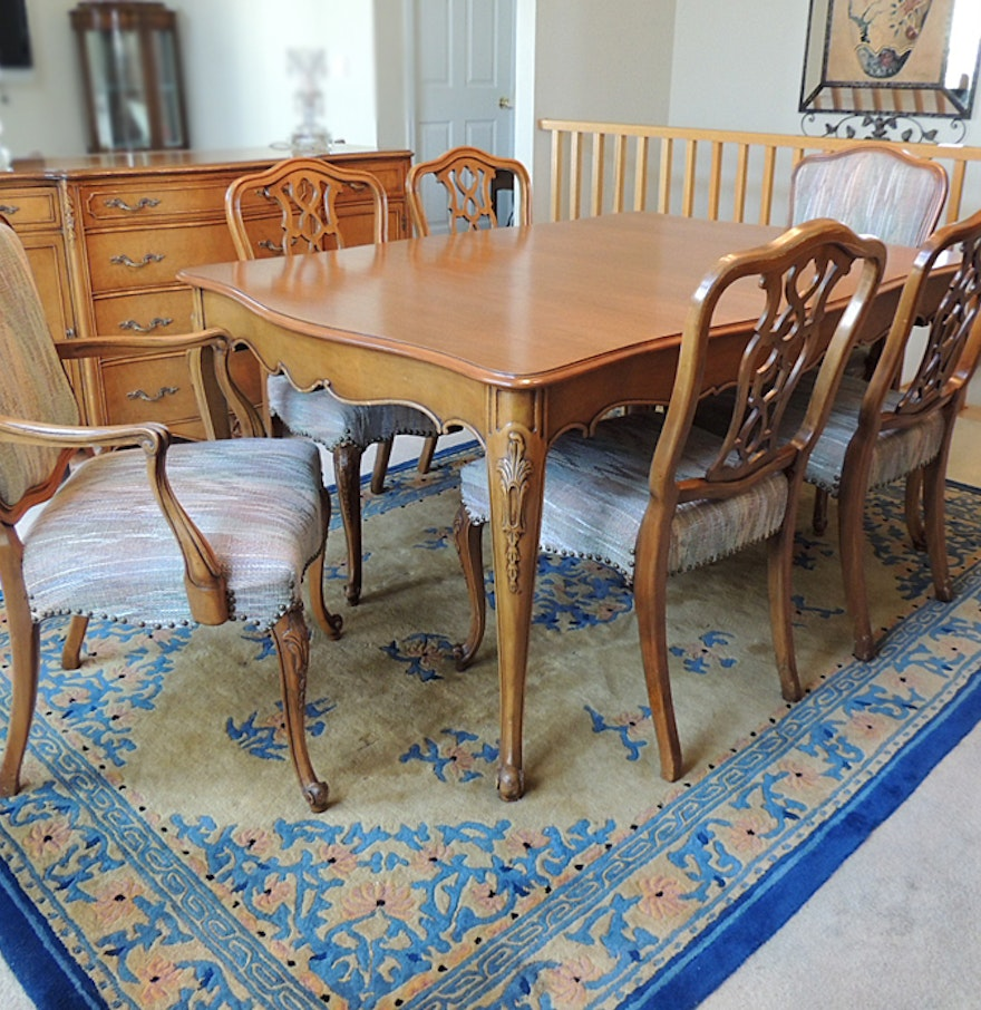 Weiman French Provincial Dining Table And Six Chairs