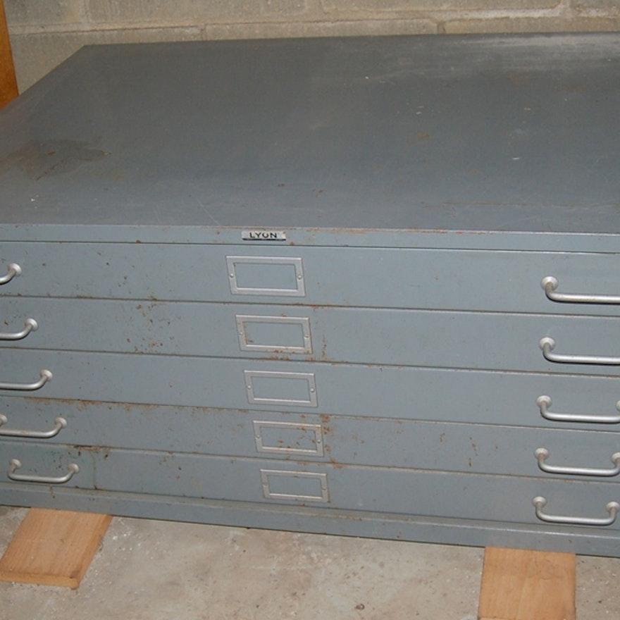 Vintage lyon five drawer blueprintmap filing cabinet ebth vintage lyon five drawer blueprintmap filing cabinet malvernweather Choice Image