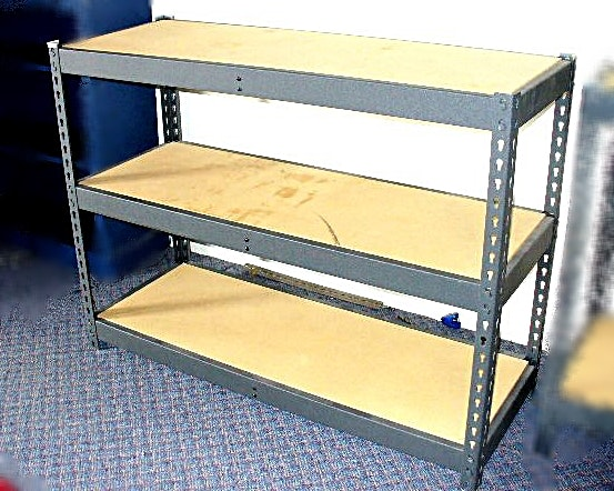 Workshop Table With Three Shelves ...