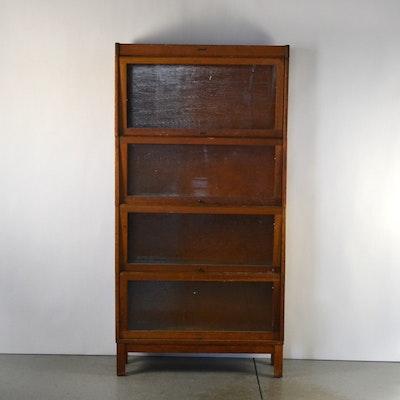 Lundstrom Barrister Book Case - Online Furniture Auctions Vintage Furniture Auction Antique