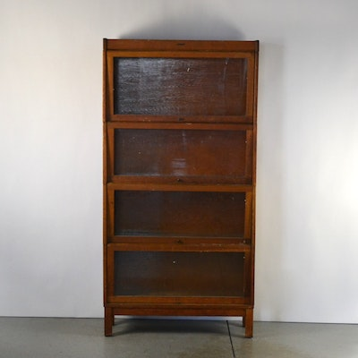 Lundstrom Barrister Book Case - Online Furniture Auctions Vintage Furniture Auction Antique