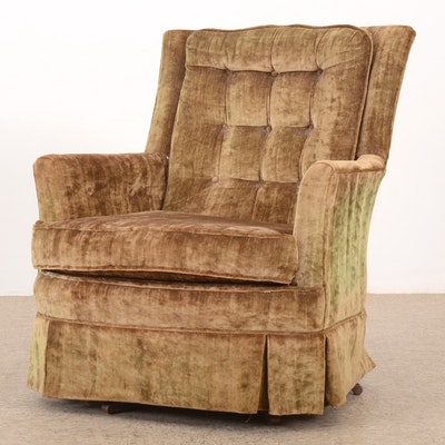 Vintage Upholstered Rocking Chair - Online Furniture Auctions Vintage Furniture Auction Antique