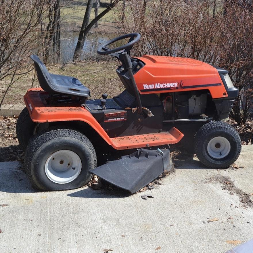 Vintage Mtd Lawn Tractors : Yard machines by mtd lawn tractor ebth