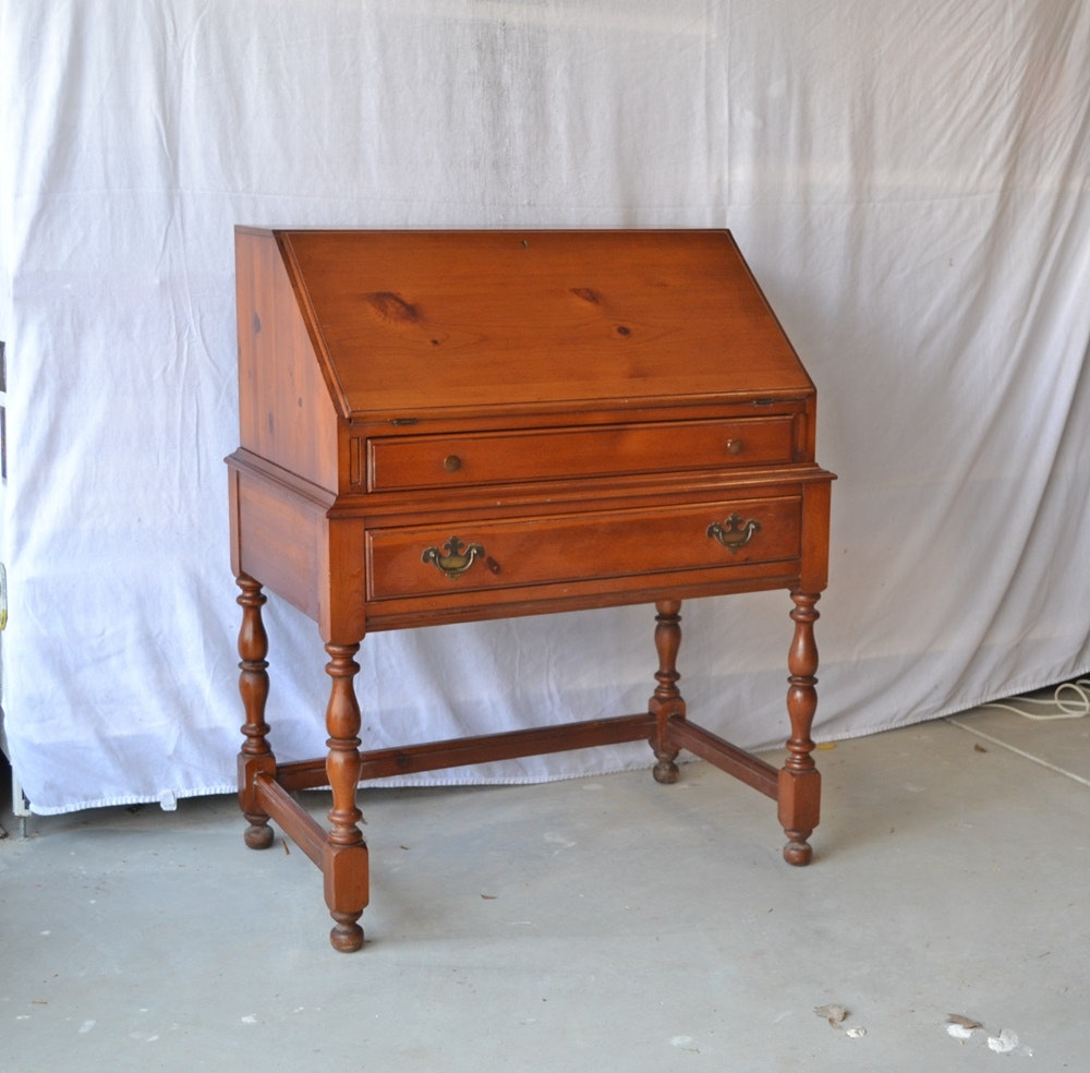 Knotty Pine Kitchen Cabinets For Sale: Vintage Davis Cabinet Company Knotty Pine Drop Down Desk