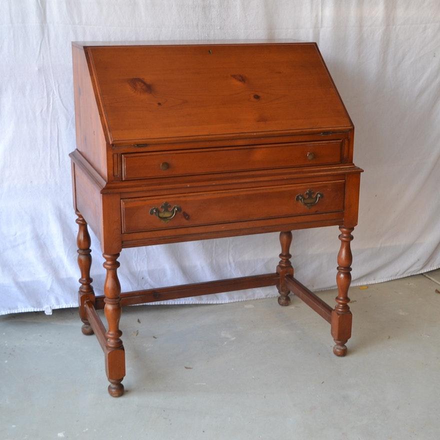 Vintage Davis Cabinet Company Knotty Pine Drop Down Desk