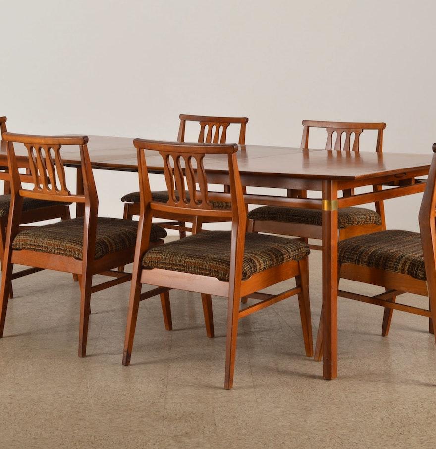 Danish Modern Dining Table Danish Modern Teak Dining Table And Chair Set Ebth