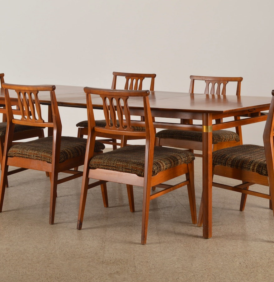 Danish Modern Dining Chair: Danish Modern Teak Dining Table And Chair Set : EBTH