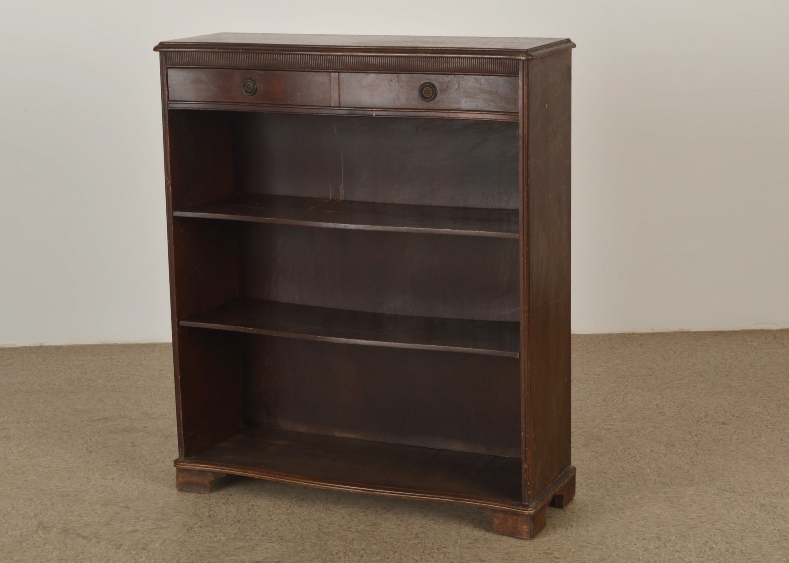 Early 1900s Sligh Lowry Mahogany Serpentine Front Bookcase ...