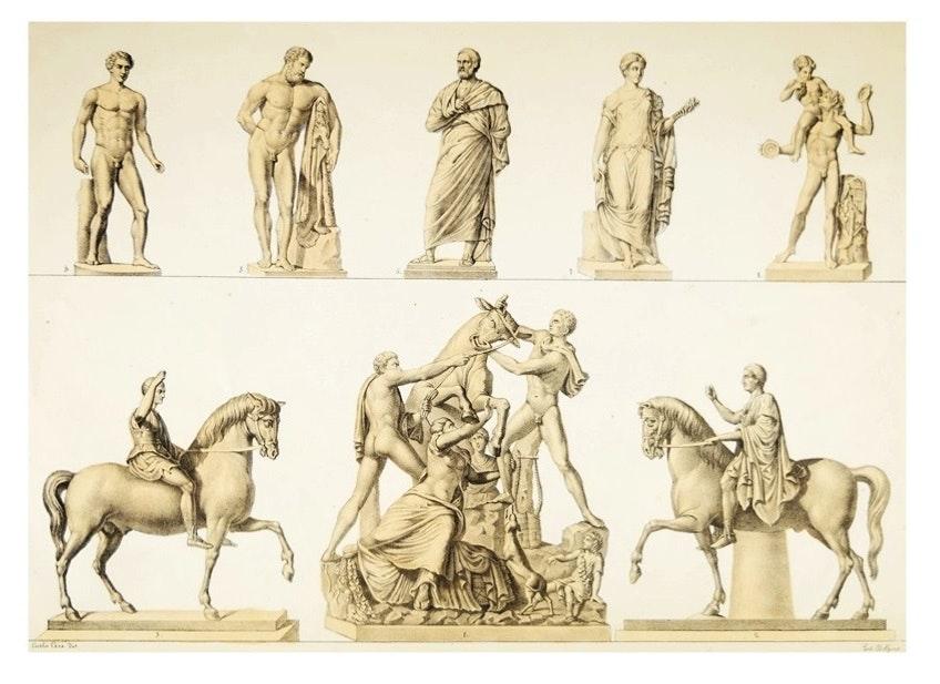 """Second Edition (1858) """"Piccoli Bronzi Del Real Museo Borbonico"""", By Carlo Ceci"""