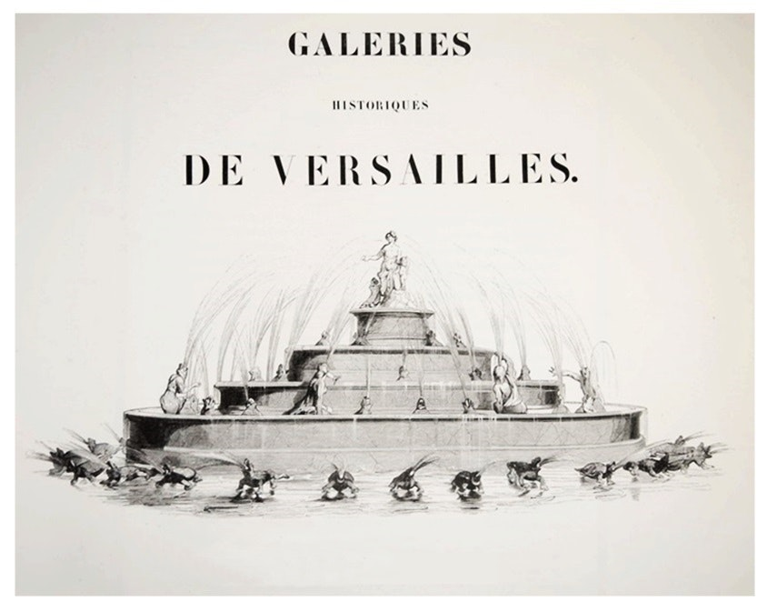 "19th c. 10 Vol. Folio Collection ""Galeries Historique de Versailles"", C. Gavard"