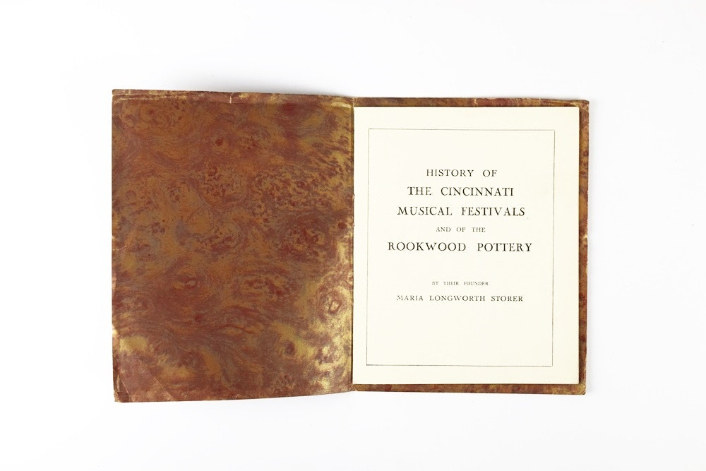Very Rare 1919 Booklet by Maria Longworth Storer on Rookwood and Music Festivals