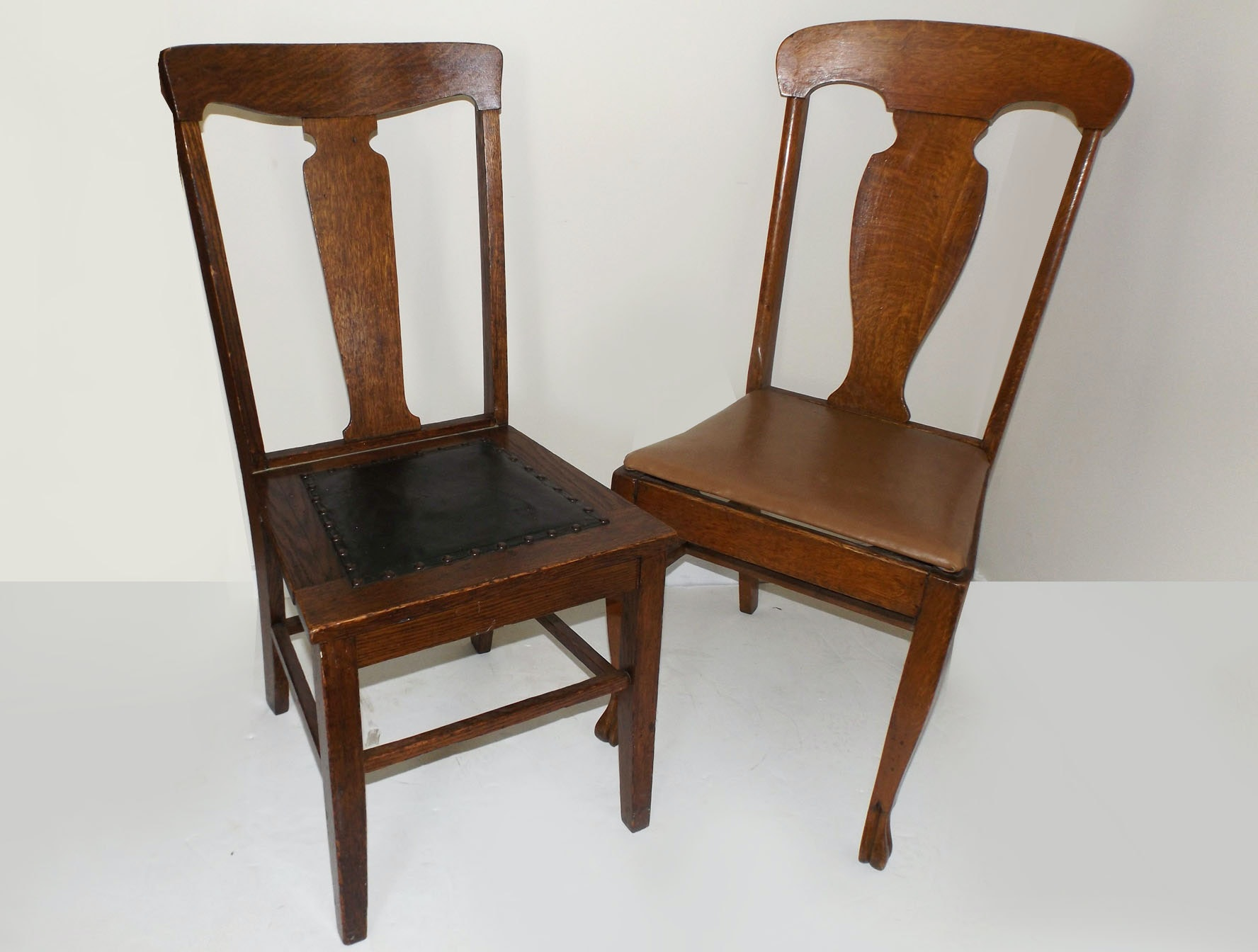 A Pair Of Mission Oak Chairs ...