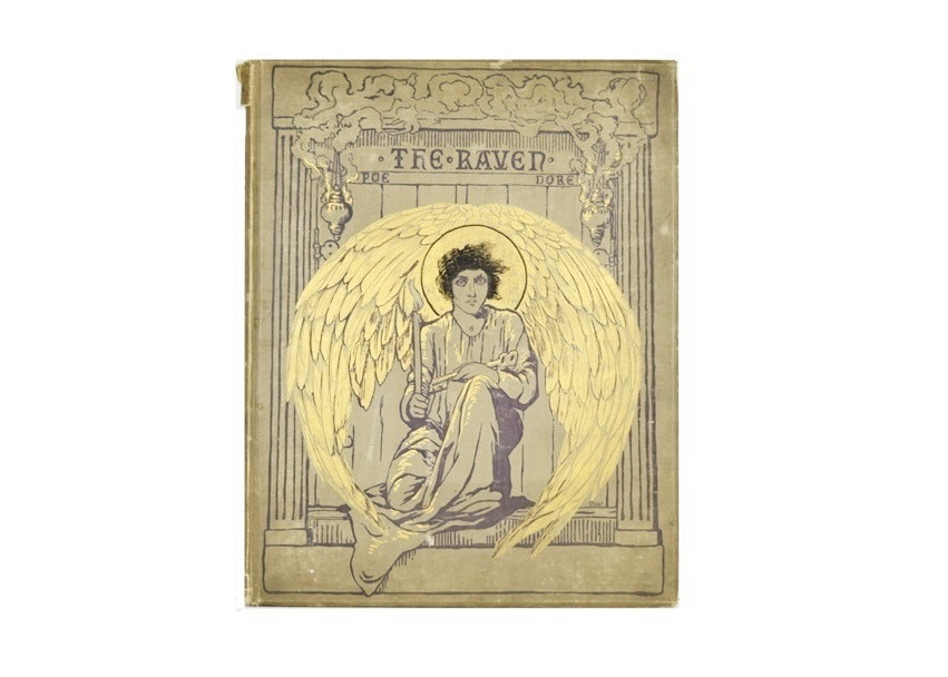 "First Edition (1884) Folio ""The Raven"" by Edgar Allan Poe, Illus. by G. Dore"