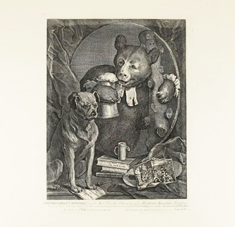 """A Steel Engraving, The Bruiser, Taken From """"The Works Of William Hogarth"""", 1822"""