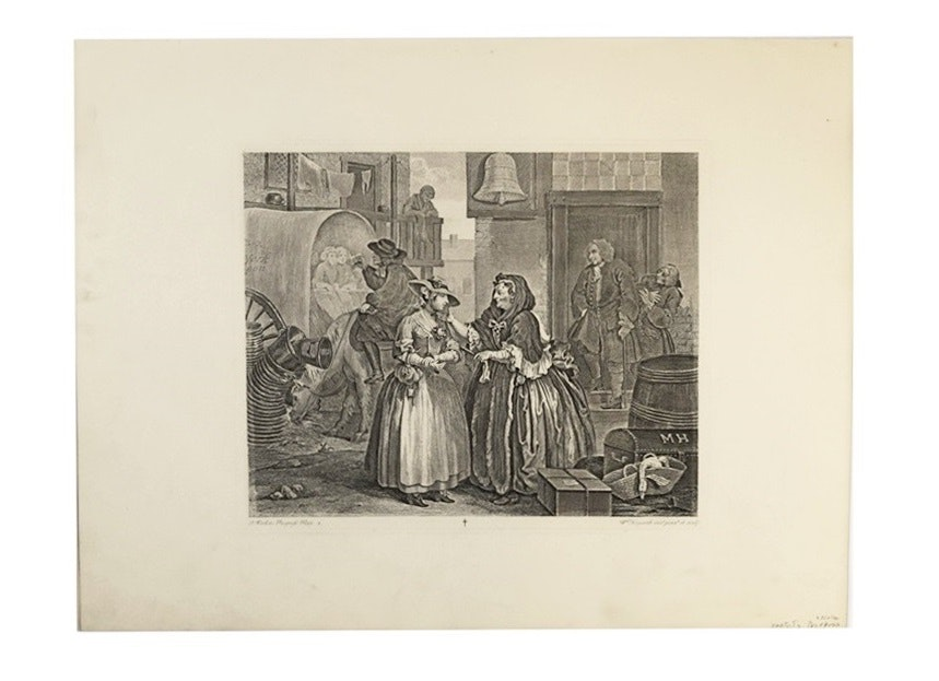 """A Harlot's Progress"" from ""The Works Of Hogarth"", Published 1822"