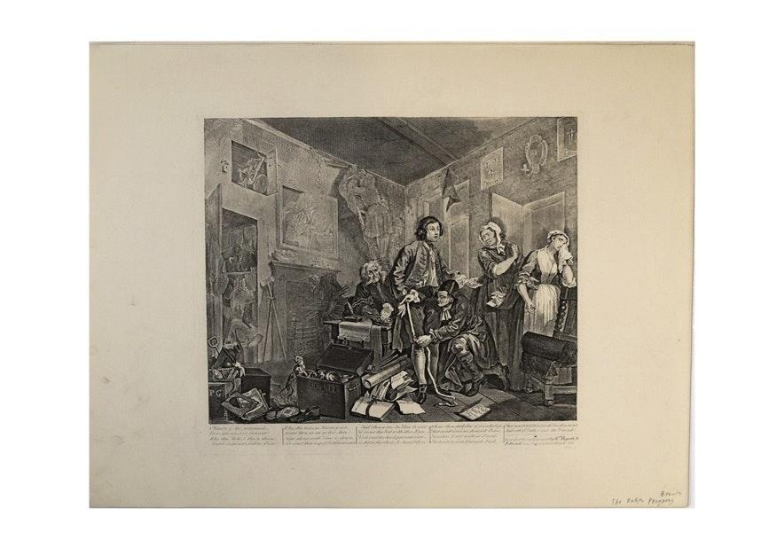 """Southwark Fair"" and ""The Progress of the Rake"", W. Hogarth 1822"
