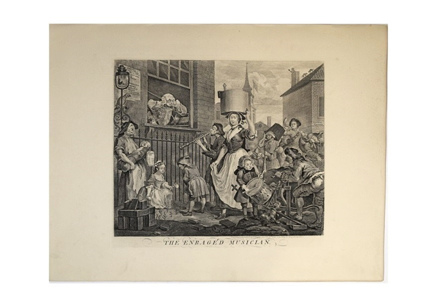 The Enraged Musician and The Distrest Poet, William Hogarth, 1822