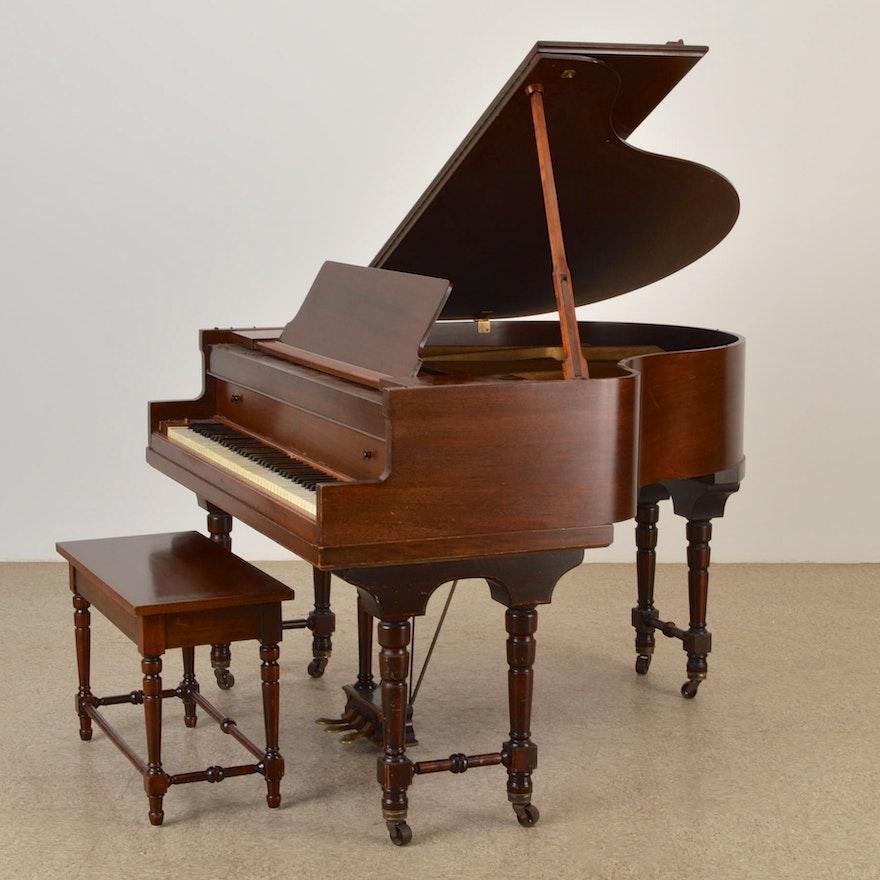 The Starr Piano Co Baby Grand Piano Ebth