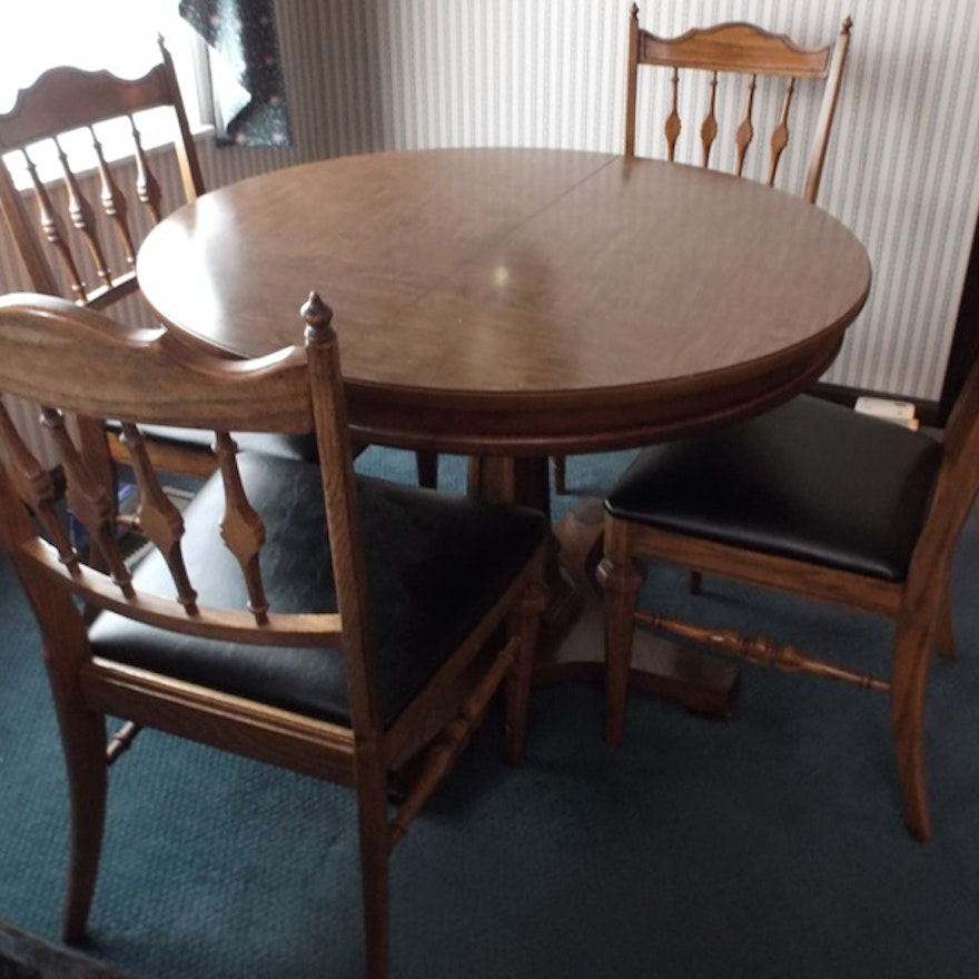 Dining Room Table Slides: Mid-20th Century Watertown Slide Dining Table And Chairs