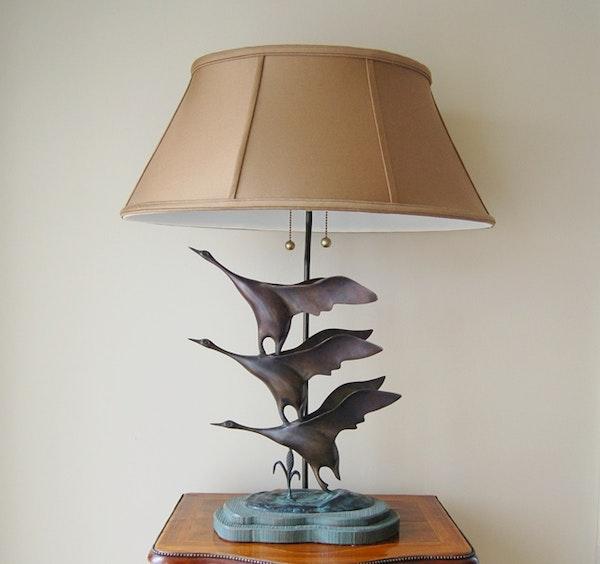Frederick Cooper Bronze Flying Geese Lamp EBTH