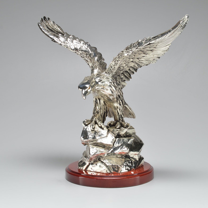 Guerrini Silver Plated Eagle Figurine