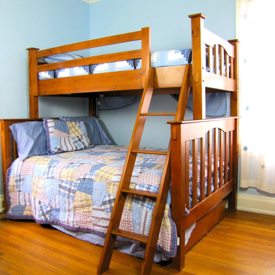 Pottery Barn Kendall Twin Loft Over Full With Trundle Bed Set