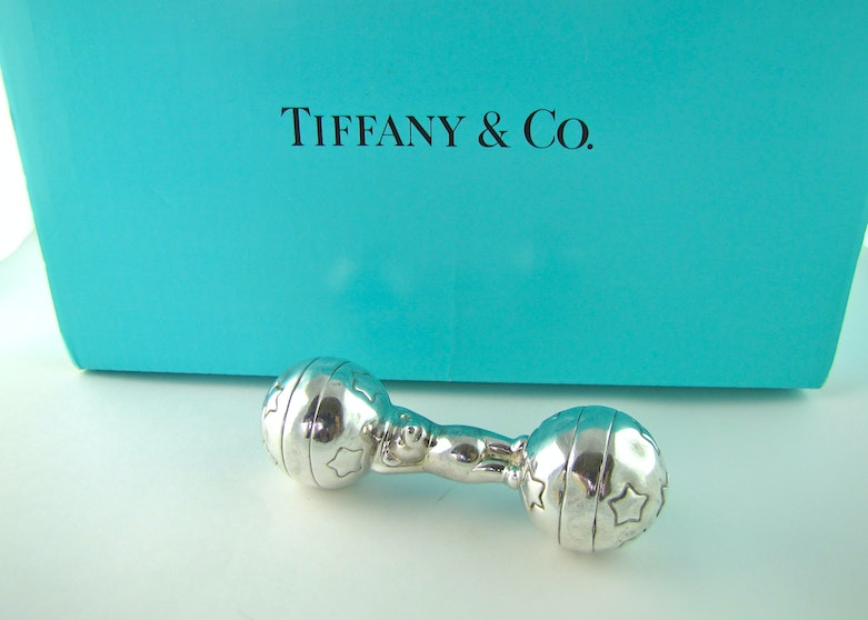 Tiffany Amp Co Sterling Silver Baby Rattle Teether Ebth