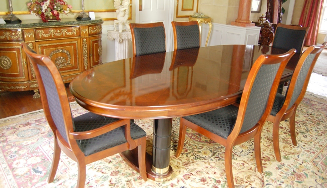 Stanley Dining Room Table And Six Chairs ...