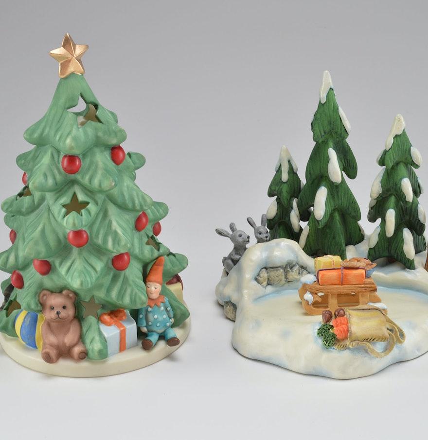 Hummel christmas tree ornaments - Hummel Christmas Figurine Duo