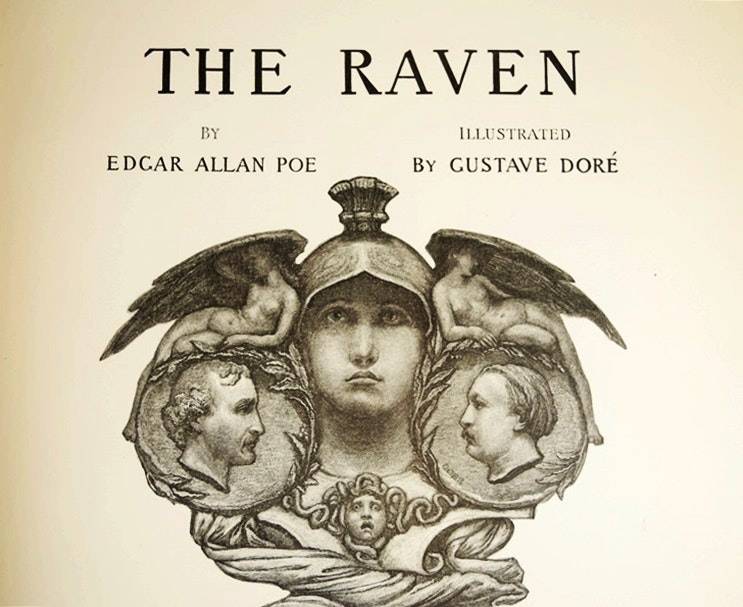 "A First Edition ""The Raven"" by Poe, Illustrated by Gustave Dore, 1884"