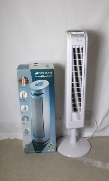 Hawaiian Breeze Tower Fan And Bionaire Hepa Air Cleaner Ebth