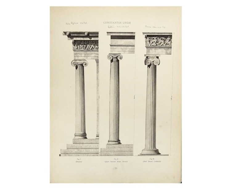 """""""The Architectural Forms Of The Classic Ages"""", by Uhde, 1909"""