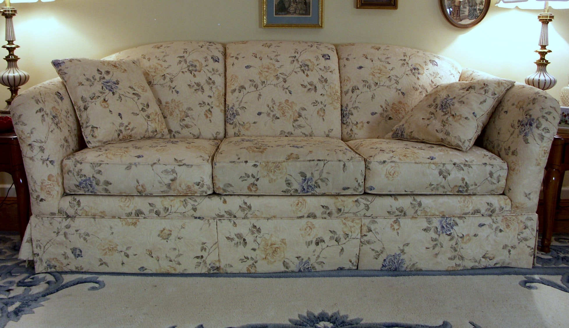 Yellow Floral Sofa