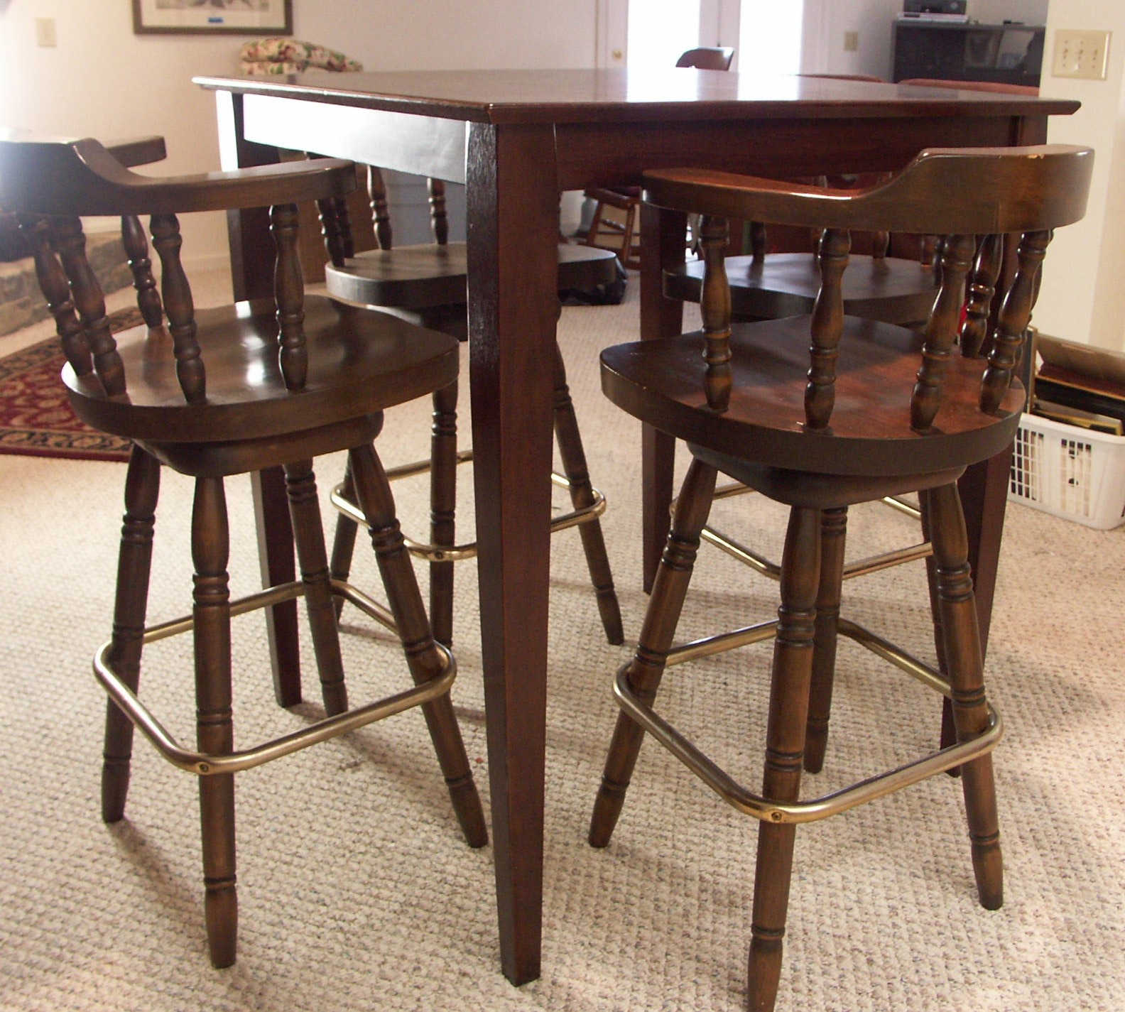 Pub Table And Four Chairs Ebth