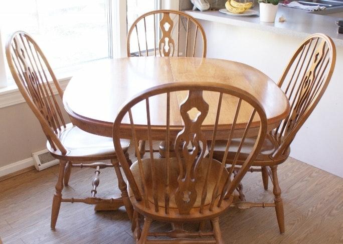 Vintage Dinaire Solid Pine Dining Set ...