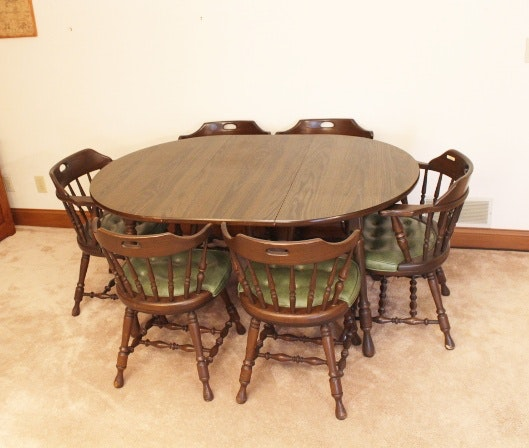 Dormalux Retro Dining Table and Six Chairs EBTH