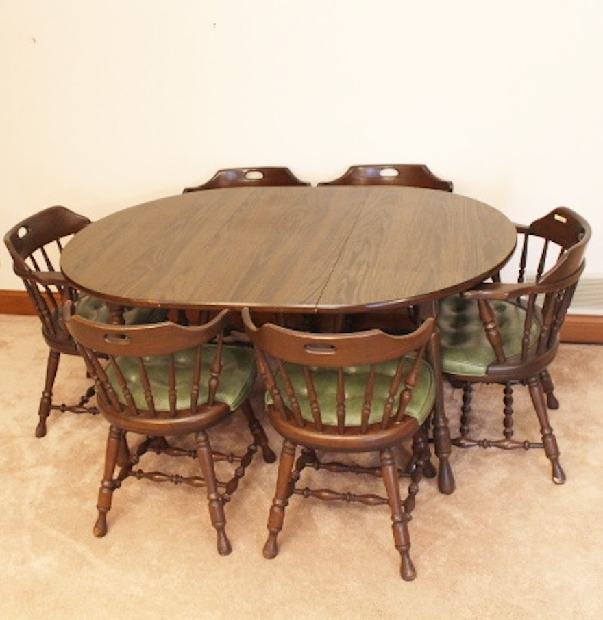 Retro dining room set - Dormalux Retro Dining Table And Six Chairs Ebth