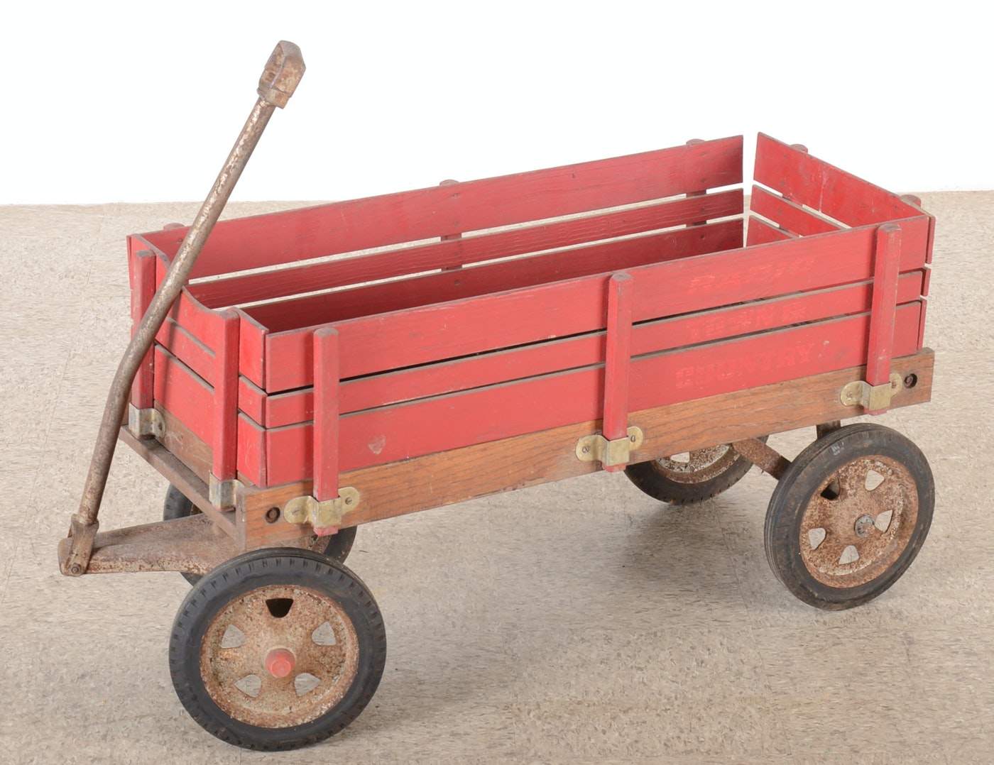 Vintage Radio Flyer Wood Sided Wagon Ebth