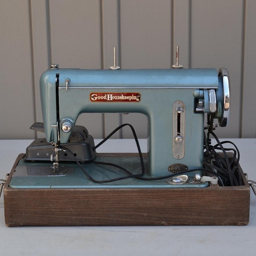 40s Vintage Good Housekeeping Straight Stitch Sewing Machine EBTH Interesting Straight Stitch Sewing Machine