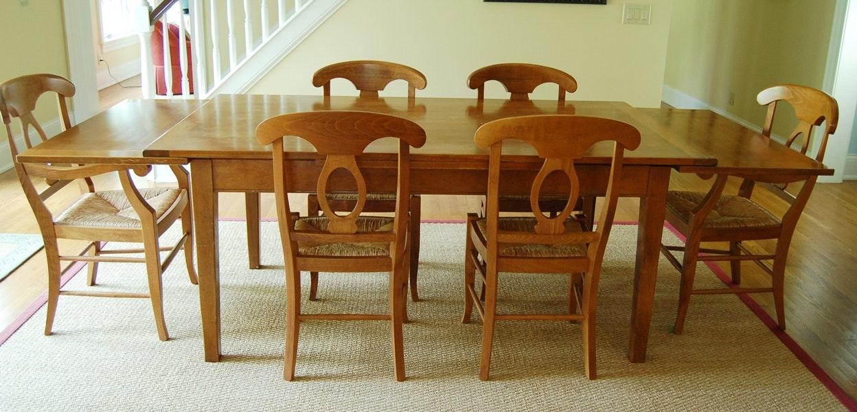 Custom Farmhouse Table And Pottery Barn Chairs ...