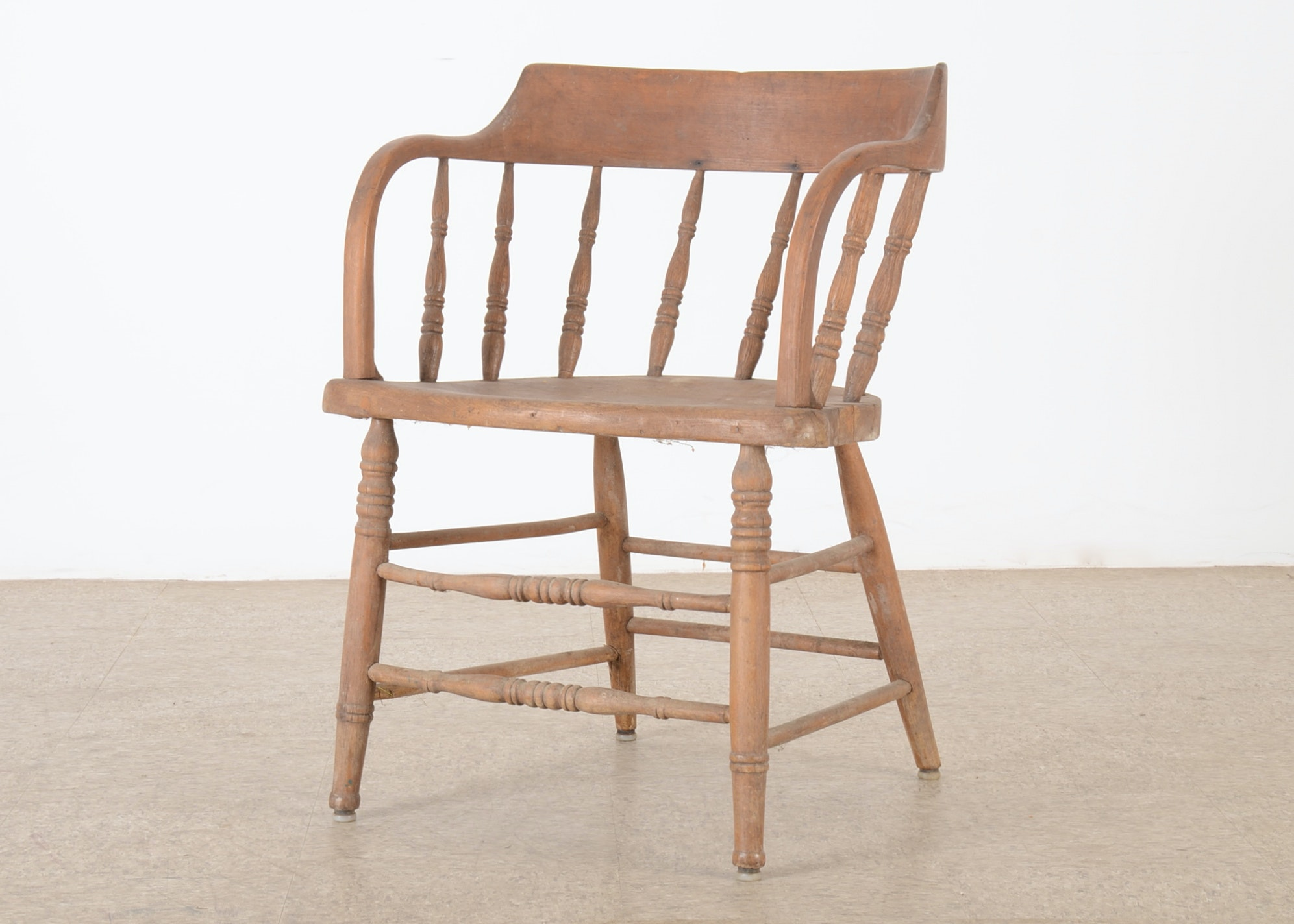 Wooden Firehouse Captainu0027s Chair ...