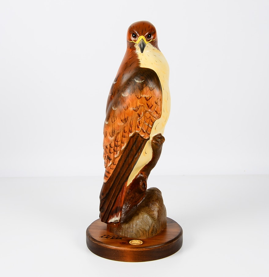K w white big sky carvers golden eagle wood sculpture ebth